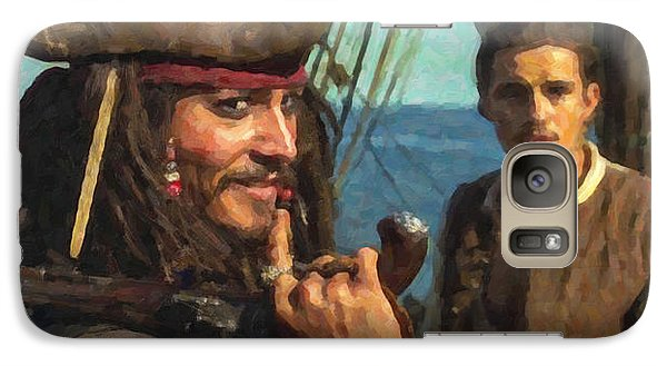 Cap. Jack Sparrow Galaxy S7 Case by Himanshu  Dubey