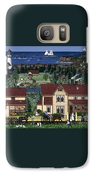 Galaxy Case featuring the painting Cape Blanco by Jennifer Lake