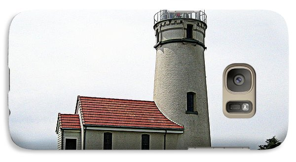 Galaxy Case featuring the photograph Cape Blanco Lighthouse by AJ  Schibig