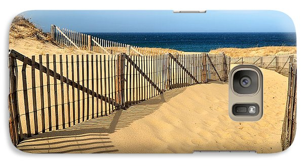 Galaxy Case featuring the photograph Cape Cod Beach by Mitchell R Grosky