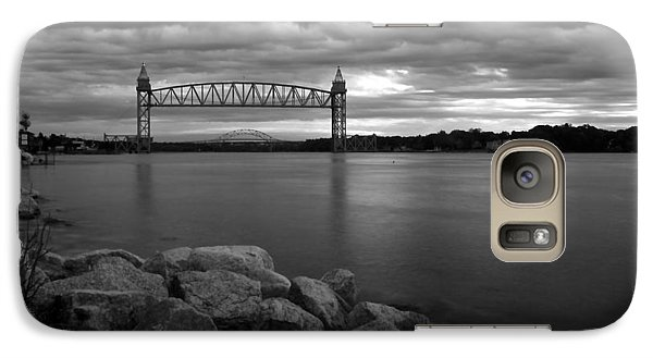 Galaxy Case featuring the photograph Cape Cod Canal Train Bridge by Amazing Jules