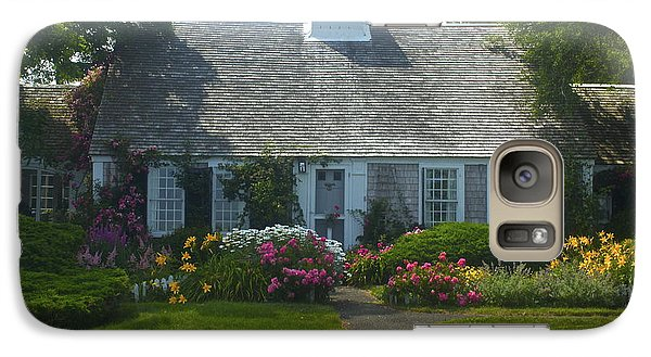 Galaxy Case featuring the photograph Cape Cod Cottage by Amazing Jules