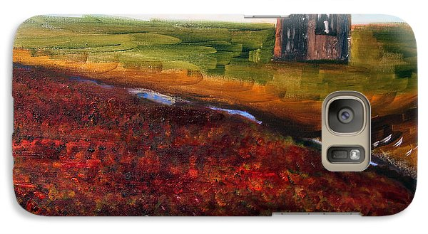 Galaxy Case featuring the painting Cape Cod Cranberry Bog by Michael Helfen