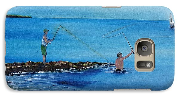 Galaxy Case featuring the painting Cape Cod Summer by Barbara Hayes