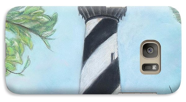 Galaxy Case featuring the pastel Cape Hatteras Light by Cathy Lindsey