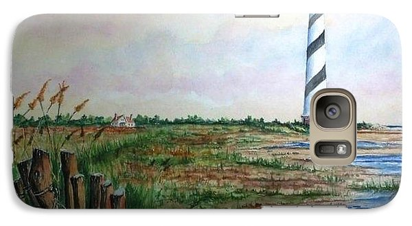 Galaxy Case featuring the painting Cape Hatteras Light Station by Richard Benson