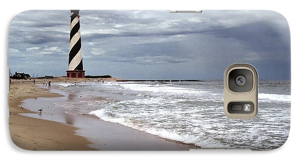 Galaxy Case featuring the photograph Cape Hatteras Lighthouse by Tom Brickhouse