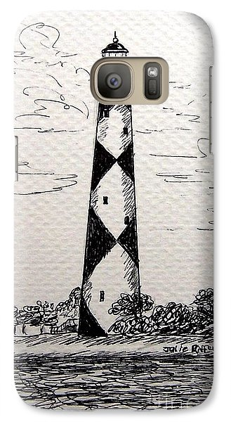 Galaxy Case featuring the drawing Cape Lookout Lighthouse Nc by Julie Brugh Riffey