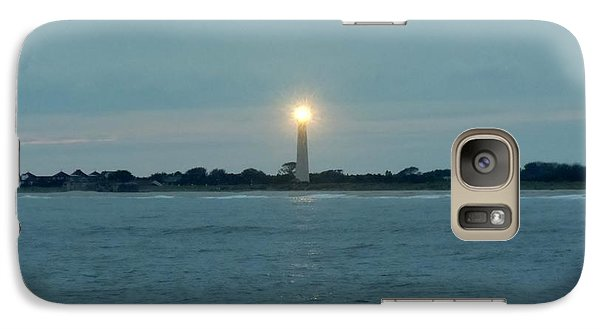 Galaxy Case featuring the photograph Cape May Beacon by Ed Sweeney
