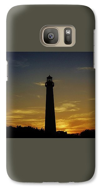 Galaxy Case featuring the photograph Cape May Lighthouse At Sunset by Ed Sweeney
