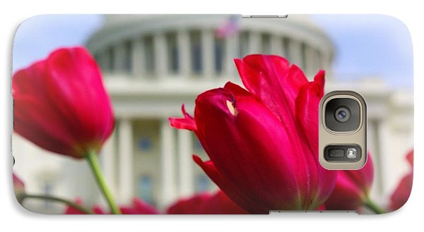 Galaxy Case featuring the photograph Capital Flowers  by John S