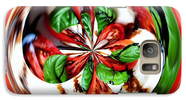 Galaxy Case featuring the photograph Caprese Salad Orb by Paula Ayers