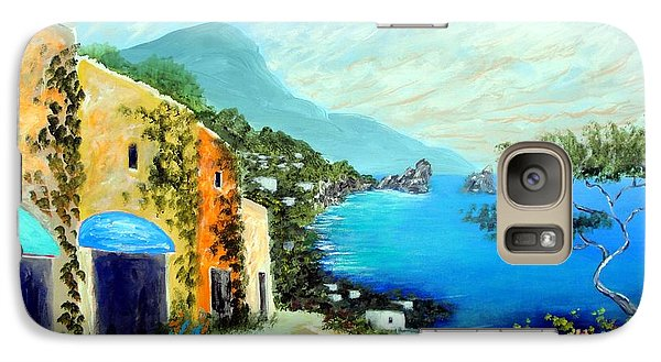 Galaxy Case featuring the painting Capri Fantasies by Larry Cirigliano