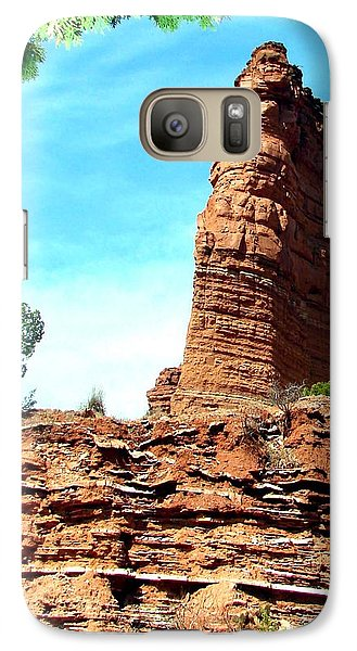 Galaxy Case featuring the photograph Caprock Canyon Red by Linda Cox