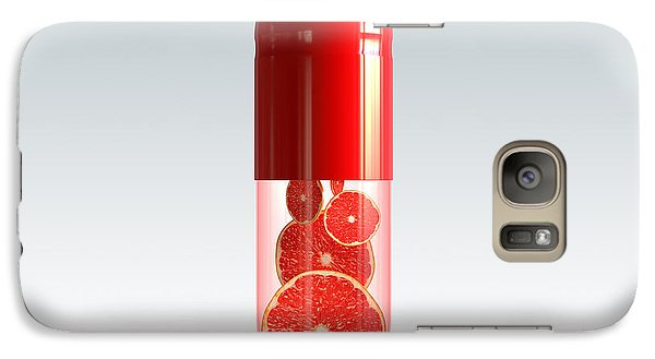 Capsule With Citrus Fruit Galaxy S7 Case by Johan Swanepoel