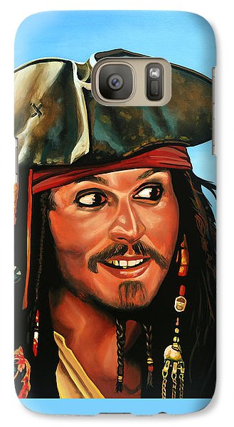 Captain Jack Sparrow Painting Galaxy S7 Case by Paul Meijering