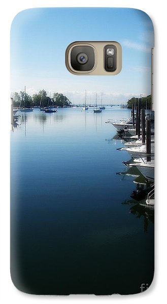 Galaxy Case featuring the photograph Captain's Cove by Kristine Nora