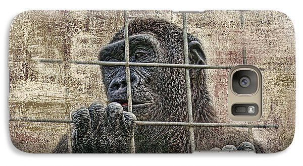Gorilla Galaxy S7 Case - Captivity by Tom Mc Nemar