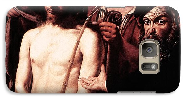 Galaxy Case featuring the digital art Caravaggio Eccehomo by Caravaggio