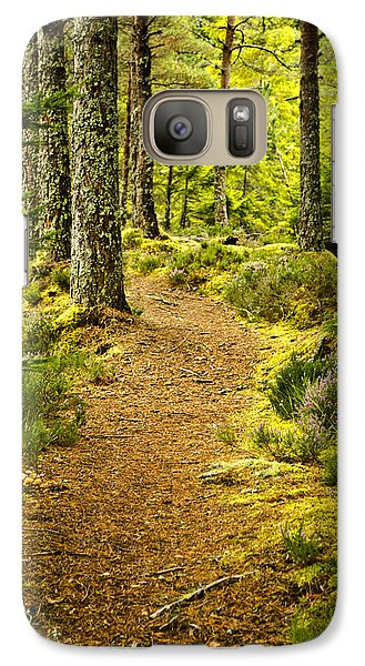 Galaxy Case featuring the photograph Carbisdale Path Scotland by Sally Ross
