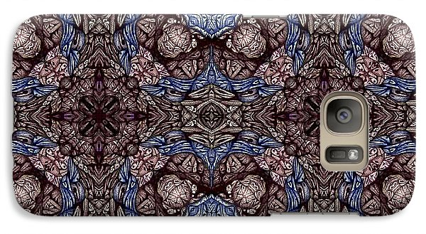 Galaxy Case featuring the drawing card design Saturday Number Three  by Jack Dillhunt