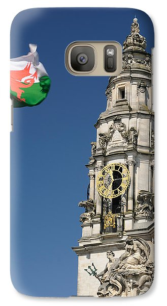 Galaxy Case featuring the photograph Cardiff City Hall by Jeremy Voisey