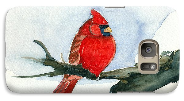 Galaxy Case featuring the painting Cardinal by Katherine Miller