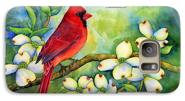 Cardinal On Dogwood Galaxy S7 Case by Hailey E Herrera