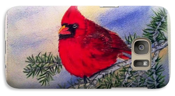 Galaxy Case featuring the painting Cardinal by Richard Benson