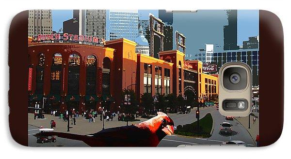 Galaxy Case featuring the digital art Cardinal Town by John Freidenberg
