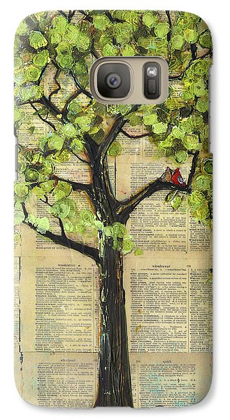 Cardinals In A Tree Galaxy Case by Blenda Studio