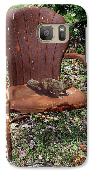 Galaxy Case featuring the photograph Careful Where You Sit by Doug Kreuger
