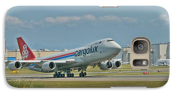 Galaxy Case featuring the photograph Cargolux 747-8f by Jeff Cook