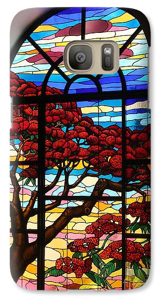 Galaxy Case featuring the photograph Caribbean Stained Glass  by The Art of Alice Terrill