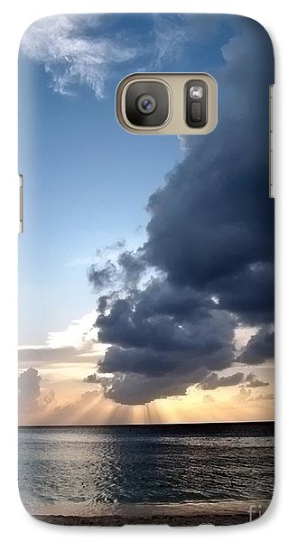 Caribbean Sunset Galaxy S7 Case by Peggy Hughes