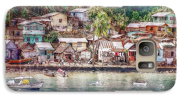Galaxy Case featuring the photograph Caribbean Village by Hanny Heim