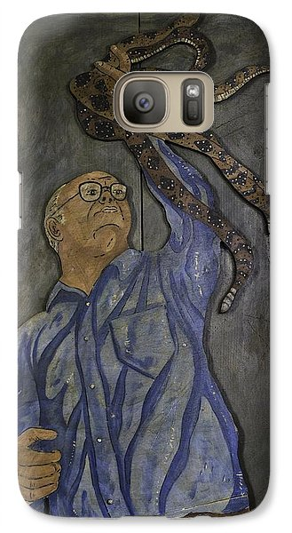 Galaxy Case featuring the painting Carl Porter - Serpent Handling Preacher by Eric Cunningham