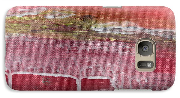 Galaxy Case featuring the painting Carlsbad Ranunculus C2013 by Paul Ashby