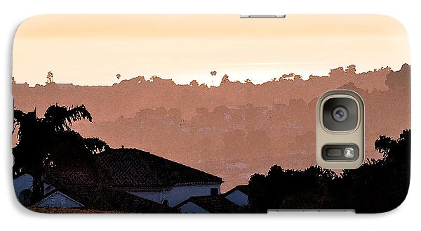 Galaxy Case featuring the digital art Carlsbad Sunset by Kirt Tisdale