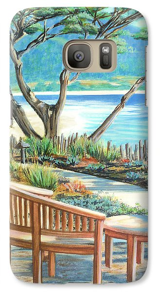 Galaxy Case featuring the painting Carmel Lagoon View by Jane Girardot