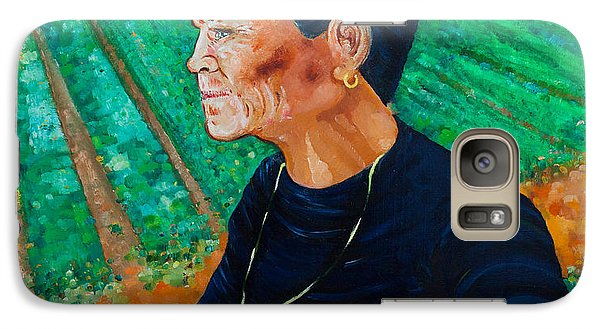 Galaxy Case featuring the painting Carmela by Giovanni Caputo