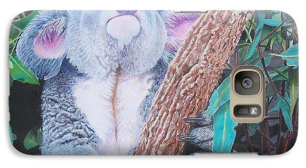 Galaxy Case featuring the mixed media Carmen's Koala  by Constance Drescher