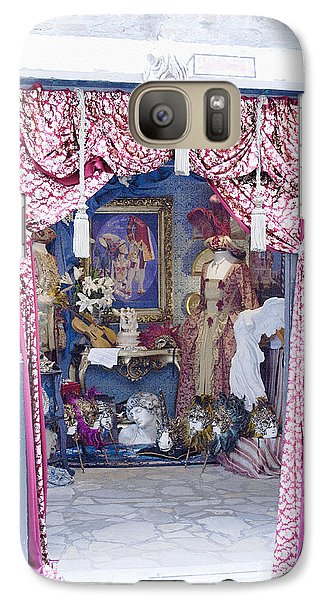 Galaxy Case featuring the digital art Carnevale Shop In Venice Italy by Victoria Harrington