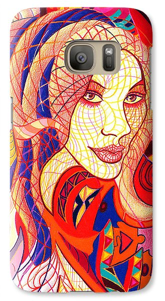 Galaxy Case featuring the drawing Carnival Girl by Danielle R T Haney