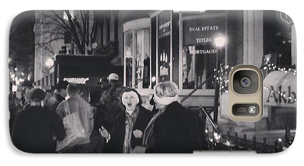 Galaxy Case featuring the photograph Carolers On North Charles Street December 2013 by Toni Martsoukos