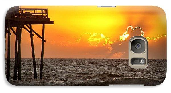 Galaxy Case featuring the photograph Carolina Beach Fishing Pier Sunrise by Phil Mancuso
