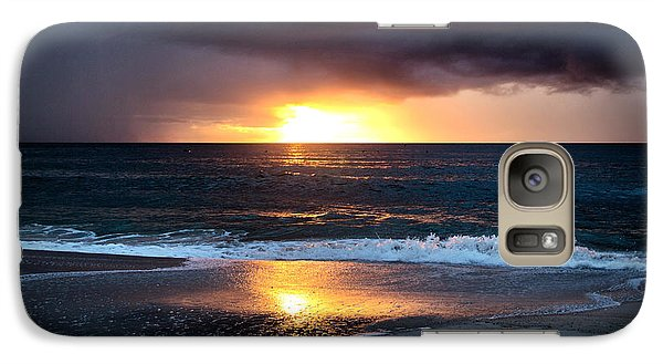 Galaxy Case featuring the photograph Carolina Beach October Sunrise by Phil Mancuso