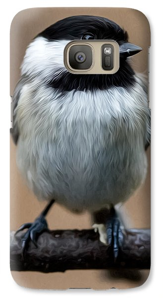 Galaxy Case featuring the painting Carolina Chickadee by John Haldane