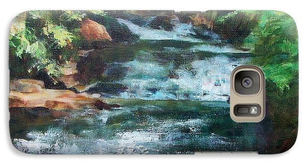Galaxy Case featuring the painting Carolina Falls by Mary Lynne Powers