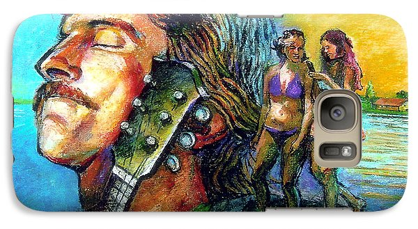Galaxy Case featuring the drawing Carolina On My Mind by Stan Esson
